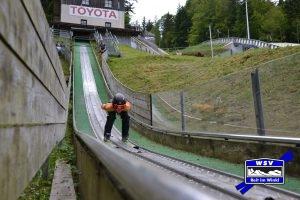 Skisprungtraining
