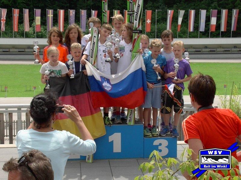2. Platz für Deutchland mit Trine, Elias, Benedikt und Erik