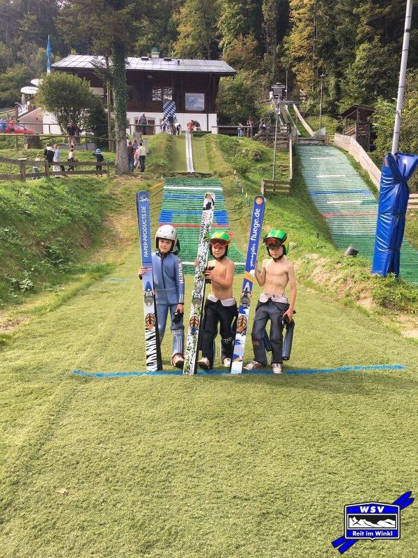 Paul, Pirmin und Haile bei der Einweihung der K8 in Berchtesgaden