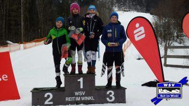 Mona Aumann und Christoph Fegg Tagesschnellste beim 1. Kinder-Sparkassen-Cup am 13.01.2018 in Reit im Winkl