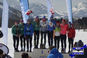Deutsche Langlaufmeisterschaft in Reit im Winkl Berchtesgaden Staffelmeister vor Ruhpolding