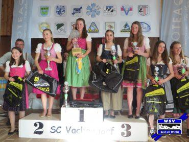 Große Preise bei der Gesamtsiegerehrung der 38. Bioteaque Langlauftournee